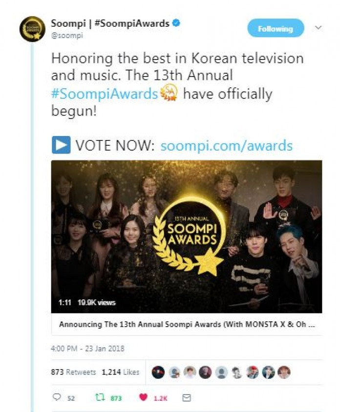 The 13th Annual Soompi Awards to Feature a New Award
