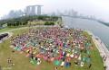 More than 700 join mass yoga event despite haze