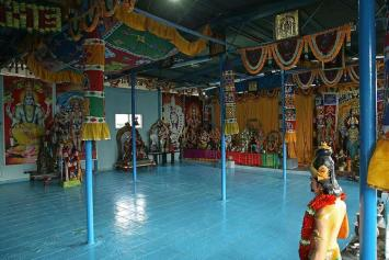 Shrine moves from illegal railway site to new location