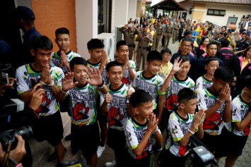 'It was a miracle': Boys rescued from Thai cave describe 2-week ordeal