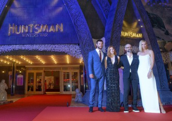 The Huntsman's movie stars sizzle on the red carpet in Universal Studios Singapore