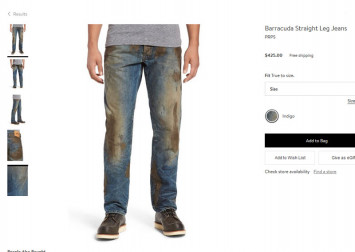 Fake dirty jeans by upscale US store go viral, draw ire