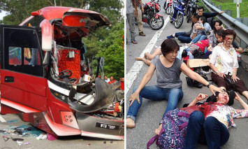 Videos show bloodied passengers in bus accident that killed 1 Malaysian, injured 11 S'poreans