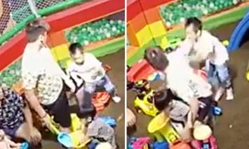 Singapore police investigating after man seen kicking and pushing boy at playground