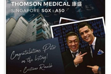 Cristiano Ronaldo stars in advertisement congratulating Peter Lim