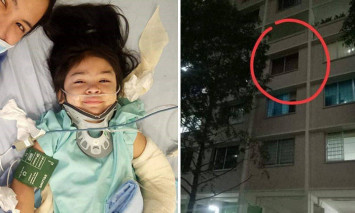 Filipino girl, 4, falls four storeys from Tampines flat after being left alone at home