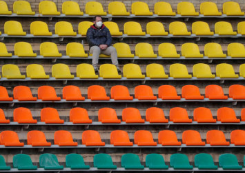 This country continues playing football amid virus anxiety and empty stands