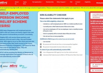Coronavirus: NTUC website taken offline to build in queue system after flood of applications for self-employed income relief