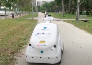 Out for a run? PUB's robots will remind you to keep your distance