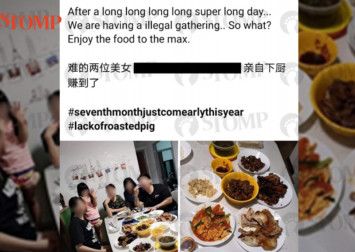 FB user posts about 'having illegal gathering, so what?' after social gathering ban announced