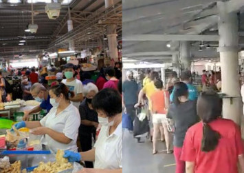 What safe distancing? Jurong West market still crowded during circuit breaker