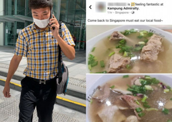 Man who flouted stay-home notice to eat bak kut teh charged in court