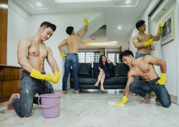 This weekend only: You can hire shirtless hunks to clean your house