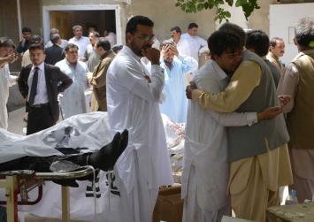 Carnage as Taliban kill 70 in Pakistan hospital bomb