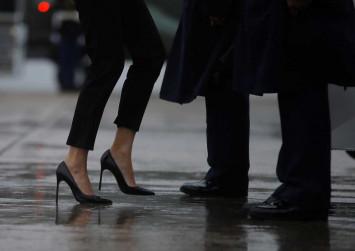 Melania Trump makes waves with 'storm stilettos,' FLOTUS hat