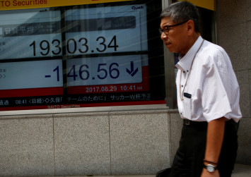 Stocks tumble, yen gains after North Korea fires missile over Japan