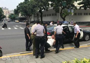 Samurai sword attack outside Taiwan presidential office
