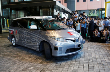 Japanese company takes automatic taxi out for test drive ahead of 2020 Olympics