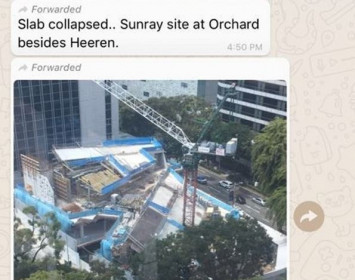 Messages circulating of Orchard Rd 'building collapse' are fake: Building and Construction Authority