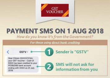 Be wary of fake SMS notifications, e-mails or calls on GST Voucher cash payouts: MOF