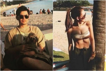 Jay Chou spotted at Sentosa beach with wife Hannah Quinlivan