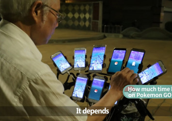 Taiwan man rigs bicycle with 11 phones to play Pokemon Go, becomes Internet sensation