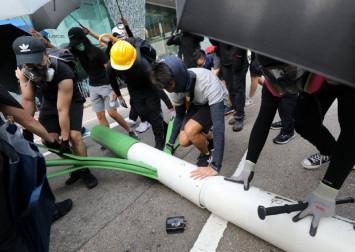 Vandalised smart lamp posts cast 'dark day' over Hong Kong innovation
