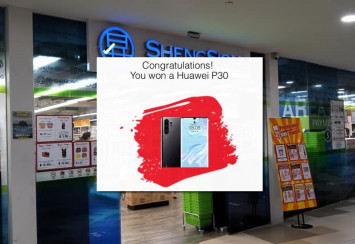 Sheng Siong urges shoppers not to believe scam message about winning a Huawei P30