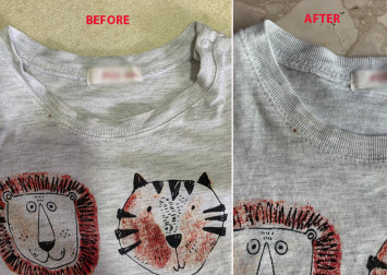 I tried a T-shirt hack to fix overstretched necklines and it works... sort of