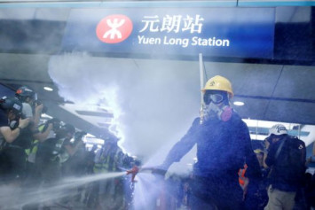 Hong Kong protesters clash with police, angry at lack of prosecutions after July subway mob attack