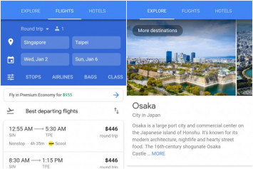 Google Flights available in Singapore from Dec 17