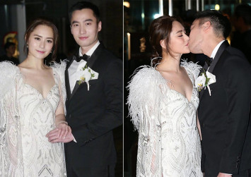 Gillian Chung gets married in romantic ceremonies in Hong Kong