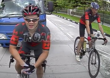 Cyclist hits lorry's side mirror, gets knocked over in Pasir Ris