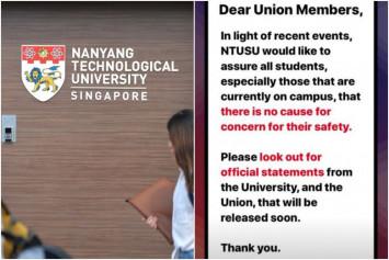 Police investigating NTU student for false information over alleged assault