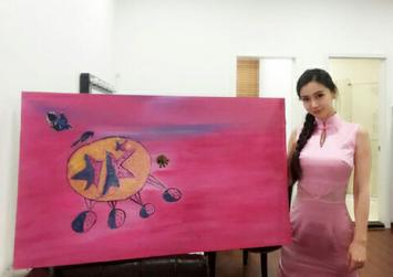 Is Angelababy's painting worth $37,000? Chinese netizens don't think so