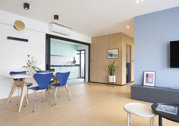 Open-concept 5-room BTO home boasts stylish nautical theme