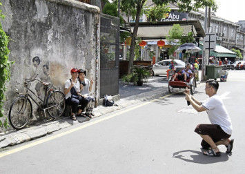 It is all quiet in Penang's tourist hot spots