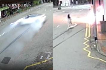 Tanjong Pagar crash: New footage shows girlfriend of driver running into burning car