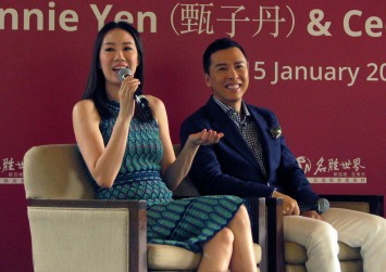 Action film star Donnie Yen's wife calls the shots at home