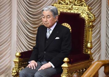 Japanese Emperor Akihito resting due to cerebral anaemia
