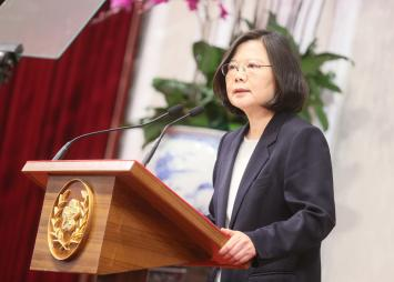 Taiwan President Tsai calls for 'calm' talks with mainland China