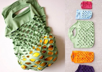 LOOK: Zero waste advocate suggests making these upcycled shirt market bags