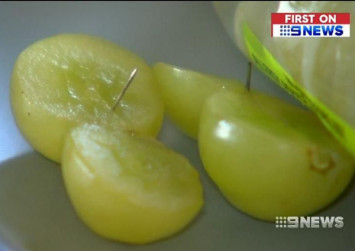 Melbourne couple find needles in grapes from supermarket