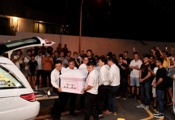 Hundreds of people at wake of Aloysius Pang to pay their respects