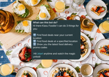 This kiasu Telegram bot hunts down food delivery promo codes and deals near you