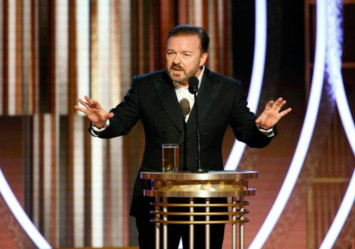 Ricky Gervais skewers Hollywood's A-list as Golden Globes host