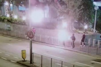Hong Kong protests: Petrol bombs thrown at Kwai Chung Police Station