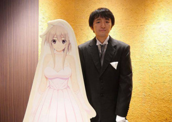 Japanese men marry anime characters in a VR wedding