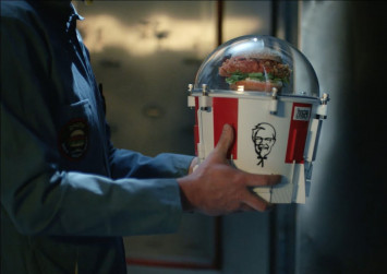KFC Zinger burger sent up to space in elaborate mission