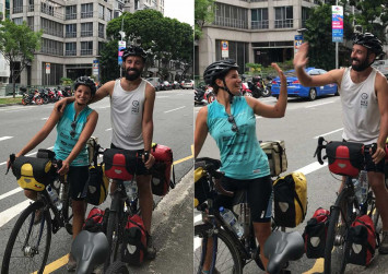 Diabetic patient who cycled 18,000km from Italy to Singapore survives to enjoy her slice of cake